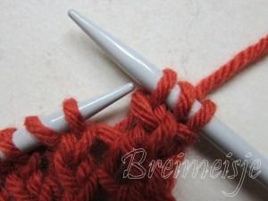 Sjaal breien 30 steken
