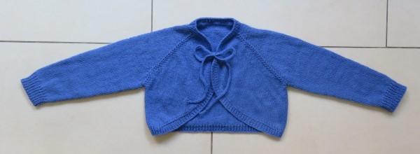 Bolero breien patroon maat 122-128
