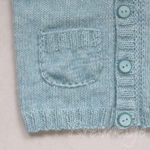 Vestje breien patroon met zakjes