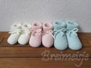 Patroon babysokjes ribbels breien