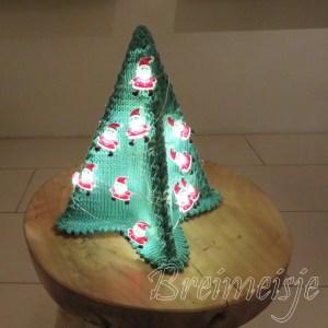 Kerstboom breien patroon