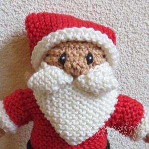 Kerstman breien ribbels