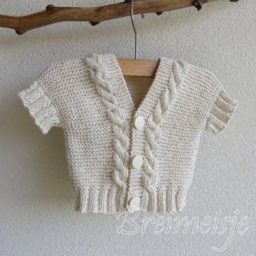 Babyvestje breien maat 56