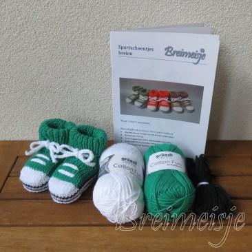 Breipakket sportschoentjes groen