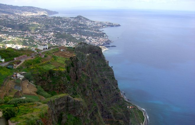 Blick von der neuen Plattform. Auf 580 Metern hat man einen traumhaften Blick auf Teile der Insel.