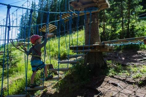 Immer aufwärts im Kletterpark am Katschberg - Familienurlaub Österreich