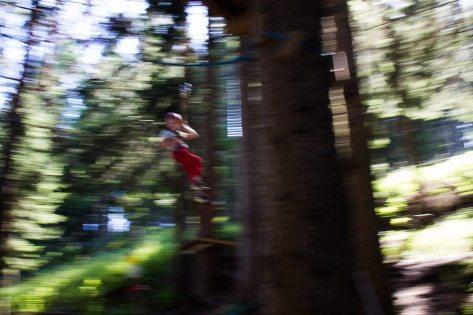 Flying Fox im Kletterpark am Katschberg - Familienurlaub Österreich