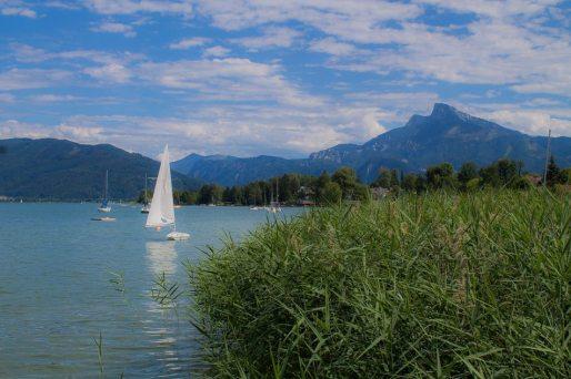 Segler auf dem Mondsee - Familienurlaub Österreich