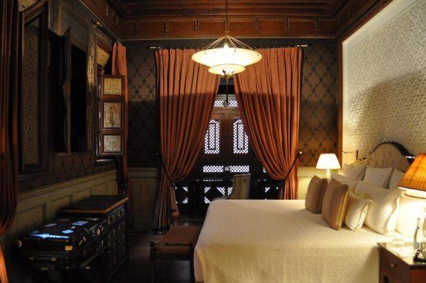 Das Schlafzimmer im 140 qm Riad