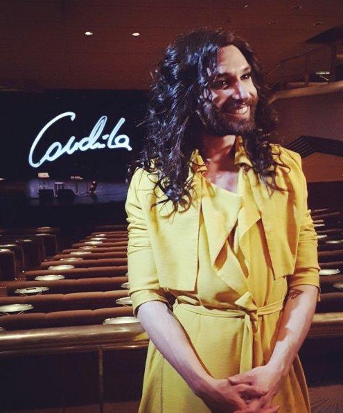 Conchita kurz vor ihrem Auftritt