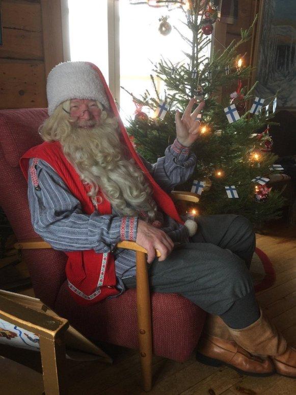 Den Weihnachtsmann in Finnland treffen - für Elton ein besonderes Erlebnis
