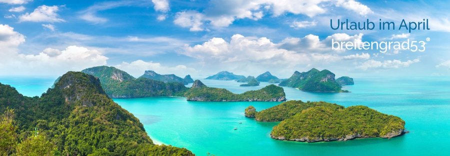 Urlaub im April - Thailand Titel