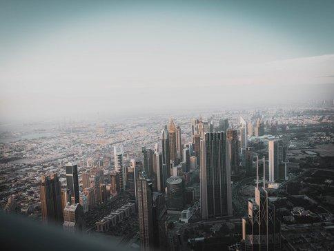 Dubai Stadt von oben