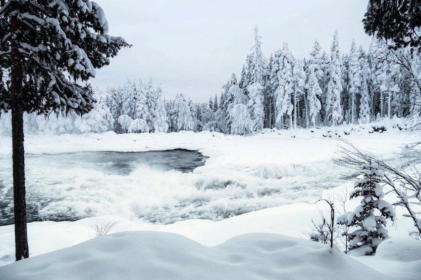 singlereisen.de_Lappland_Storforsen_Winter in Lappland