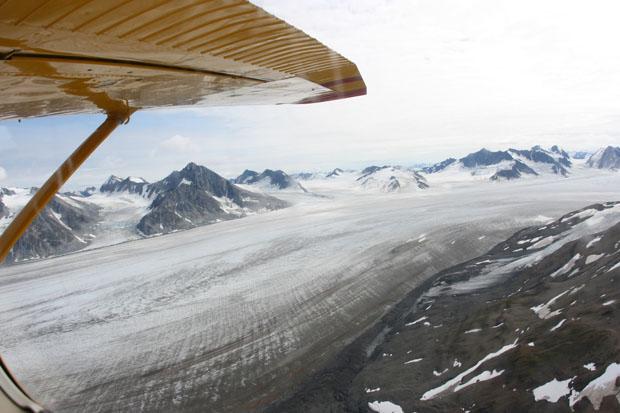 Neben den Linienflügen war ich auch oft mit kleinen Chartermaschinen unterwegs. Hier im Yukon.