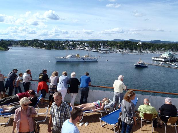 Auch der norwegische König hatte seinen Dampfer im Hafen geparkt.