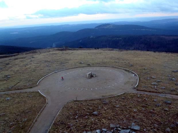 Blick auf den höchsten Punkt des Brockens.