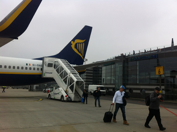 Zurück nach Dortmund ging es wieder mit Ryanair