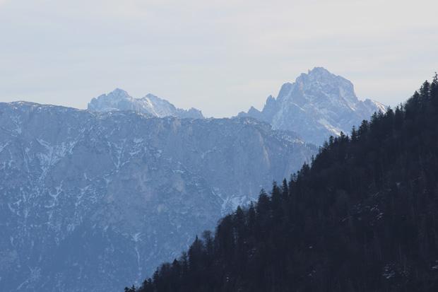 Teile des Kaisergebirges mit der Ellmauer Halt waren zu sehen