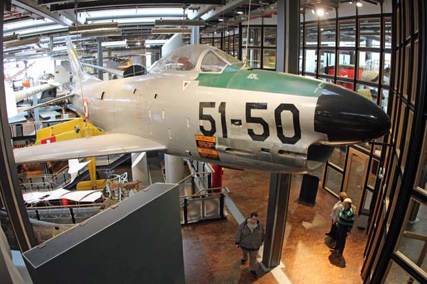 Auch Jets sind im Museum zu finden