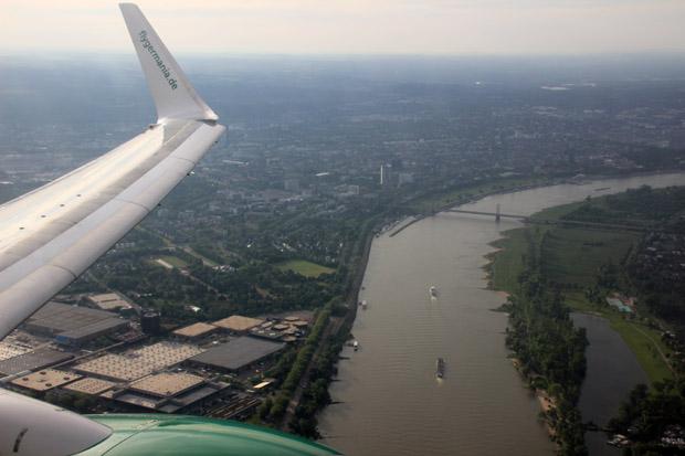 Der Weg kreuzte zunächst den Rhein