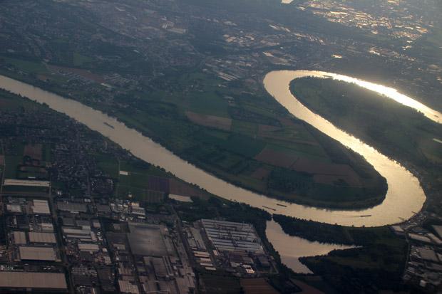 Romantisch präsentierte sich der Rhein