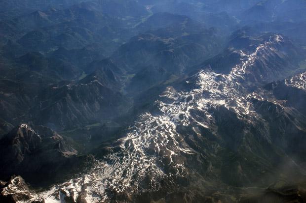 Die Alpen kamen in Sicht