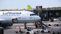 Ein letzter Blick auf den A320, der mich nach Riga brachte