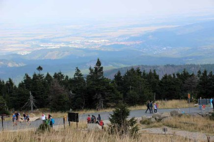 Blick vom Brocken nach Wernigerode