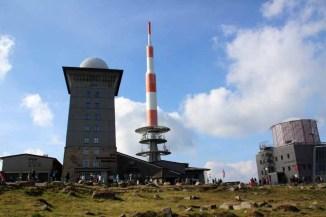 Die Gebäude auf dem Gipfel des Brocken