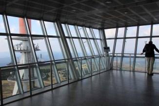 Die Aussichtsplattform über dem Brockenhotel