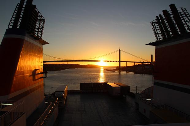 Der Sonnenuntergang war sehenswert