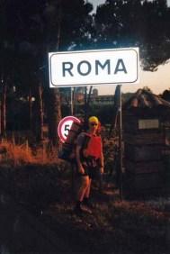 Auf dem Weg zum Campingplatz in Rom