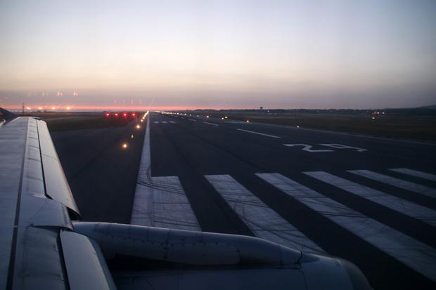 Über die Landebahn 29 wurde Paphos verlassen