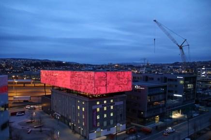 Das Clarion Hotel in Trondheim in Norwegen