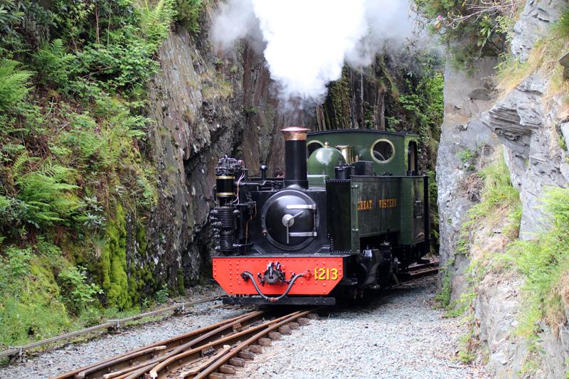 Niedlich sieht diese Dampflok der Vale of Rheidol Railway aus