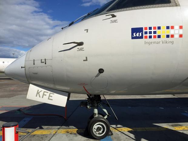 Mit diesem CRJ 900 von SAS bin ich von Trondheim nach Kopenhagen geflogen