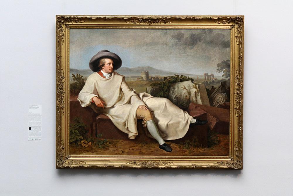 Johann Heinrich Wilhelm Tischbein - Goethe in der römischen Campagna im Städel Museum Frankfurt