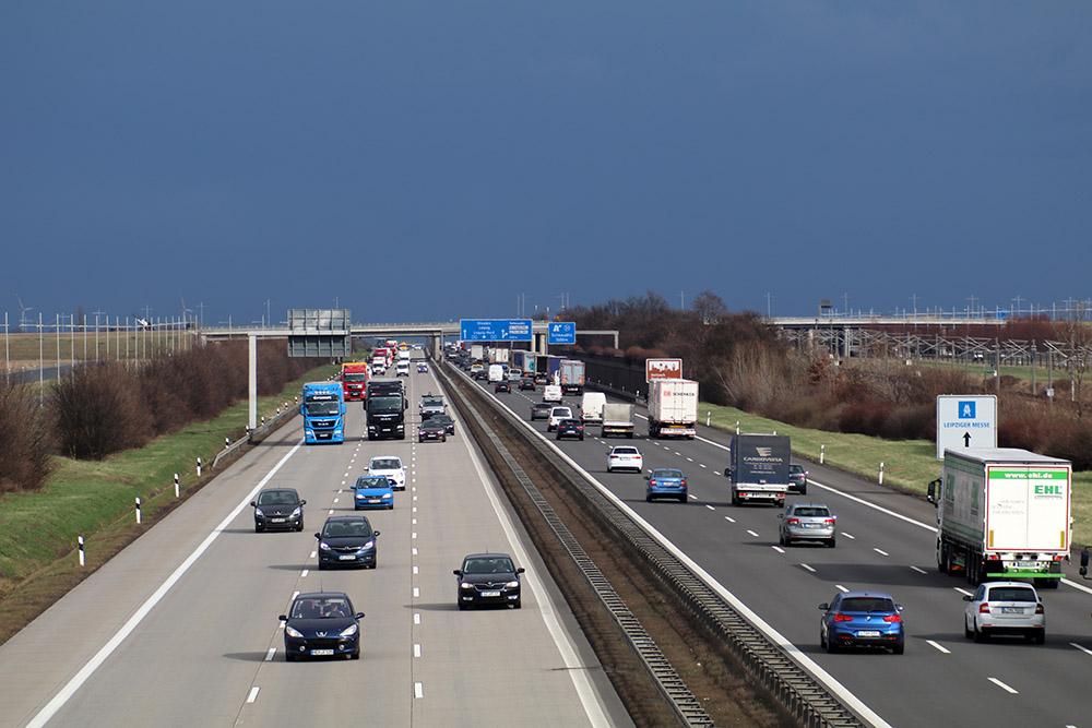 Flughafen Leipzig Halle Autobahn