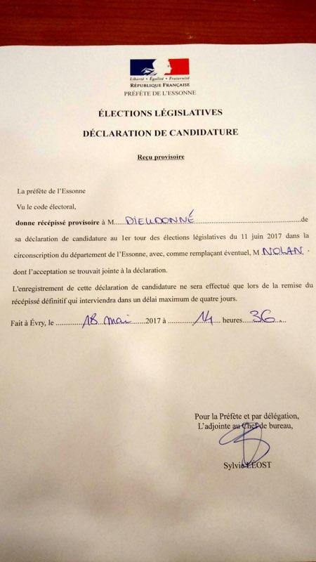 Dieudonné Nolan Valls Législatives