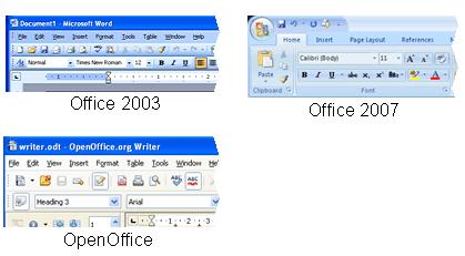 Office UI screenshots