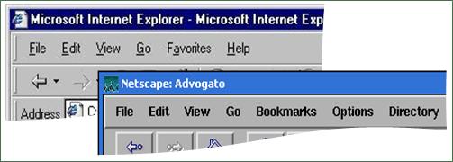 Netscape and IE