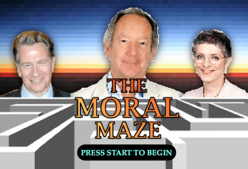 Title screen from the Moral Maze