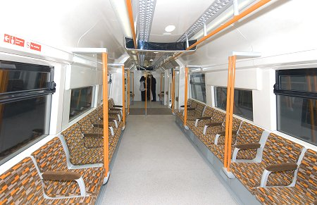 Empty Overground train