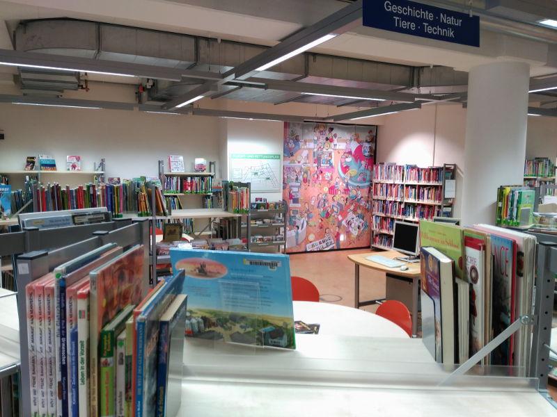 La zona para niños de la biblioteca de Bremen