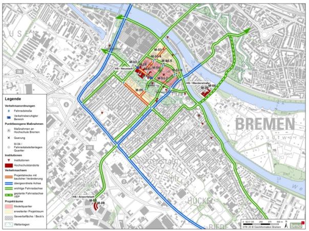 Früher Entwurf des Projektquartiers von der Behörde des Umweltsenators