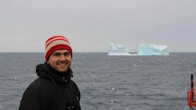 Eisscholle Man Meer