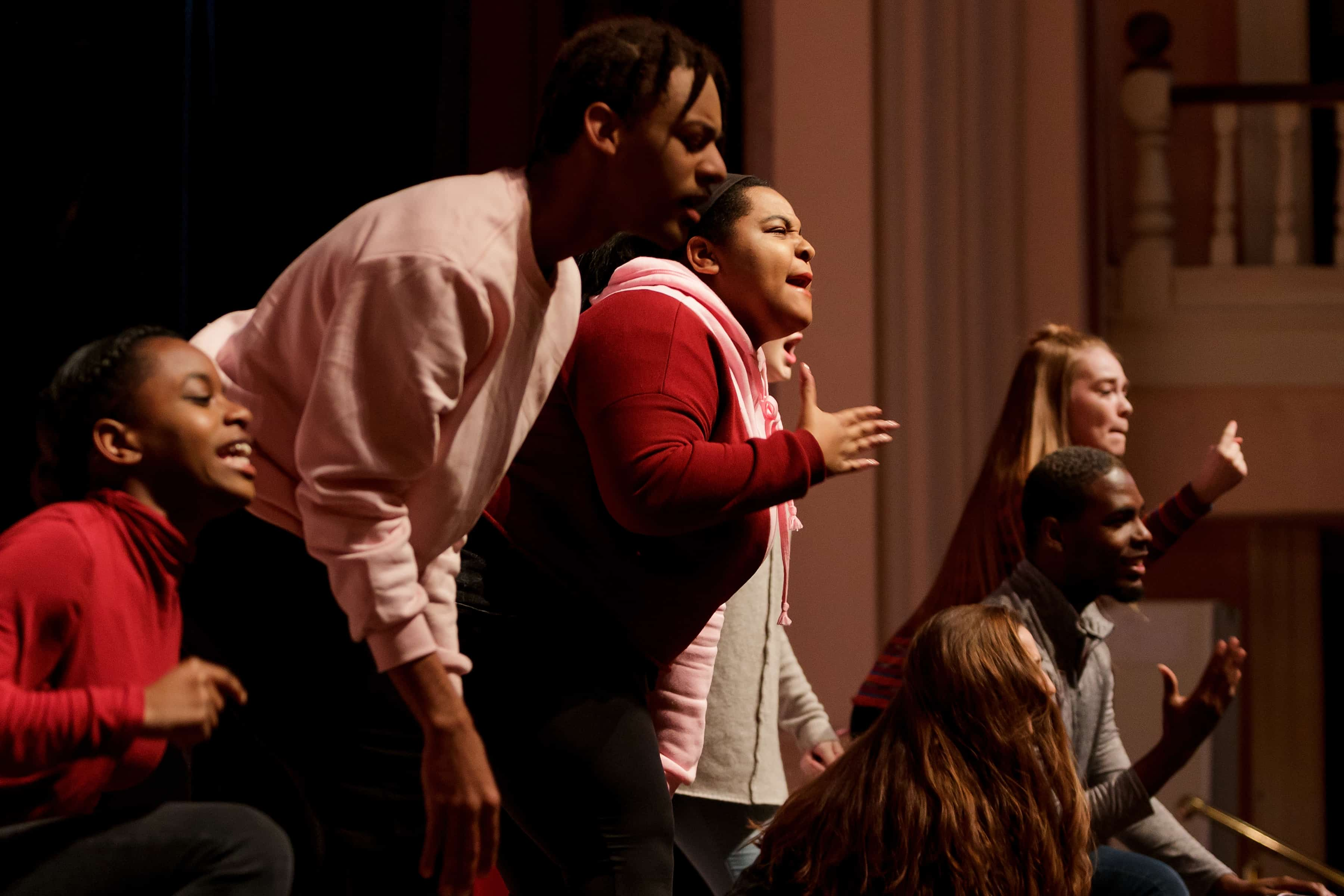Students dance at the Brenau University Martin Luther King Jr. Convocation.
