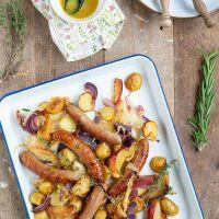 Traybake van aardappel met venkel en appel
