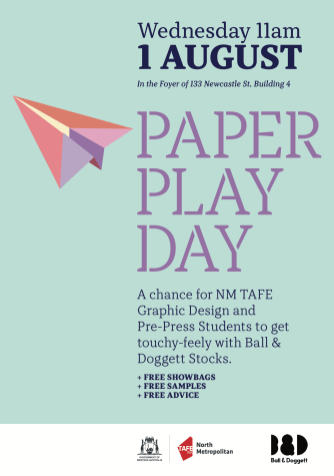 BALL & DOGGETT PAPER PLAY POSTER 2018